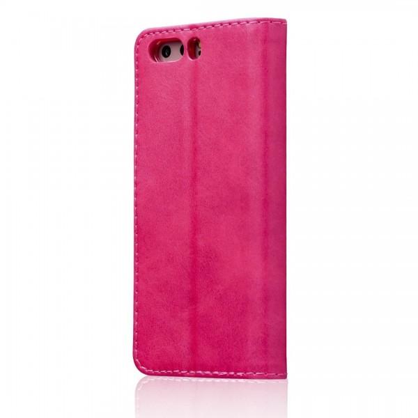 Луксозен кожен флип калъф/тип тефтер за Huawei P10 Plus, LC.IMEEKE, Розов